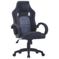 vidaXL szürke műbőr gamer-szék