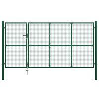 vidaXL zöld acél kertkapu 350 x 150 cm
