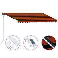vidaXL narancssárga-barna szélérzékelős és LED-es napellenző 400x300cm