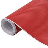 vidaXL matt piros 4D autófólia 500 x 152 cm