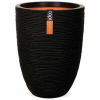 Capi Nature Rib KBLR783 fekete elegáns váza 46 x 58 cm