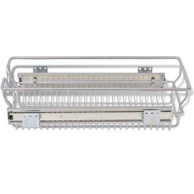 vidaXL 2 db ezüstszínű kihúzható drótkosár 300 mm
