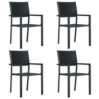 vidaXL 4 db fekete rattan hatású műanyag kerti szék