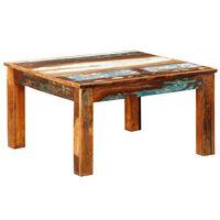 vidaXL négyzet alakú tömör újrahasznosított fa dohányzóasztal