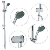 vidaXL fém zuhanyrúd-készlet kézi zuhannyal