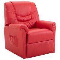 vidaXL piros műbőr dönthető szék