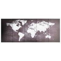 vidaXL szürke nyomtatott vászon világtérkép 150 x 60 cm