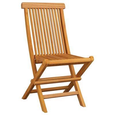 vidaXL 6 db tömör tíkfa kerti szék antracitszürke párnával