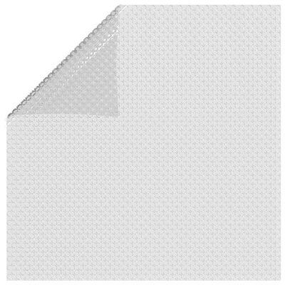 vidaXL szürke napelemes lebegő PE medencefólia 450 x 220 cm