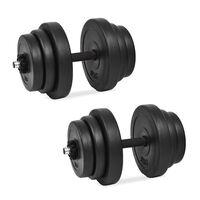 vidaXL 18 részes súlyzókészlet 40 kg