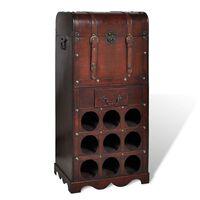 vidaXL fa bortartó állvány 9 palackhoz
