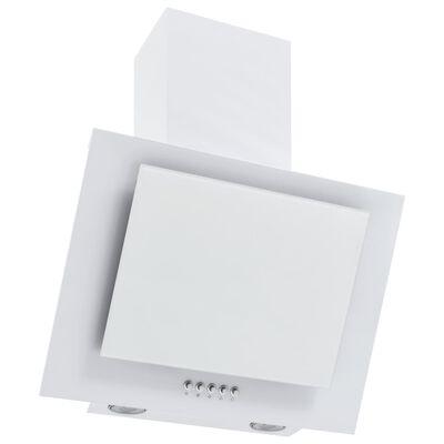 vidaXL fehér rozsdamentes acél és edzett üveg fali páraelszívó 60 cm, Fehér
