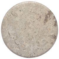 vidaXL szürke márvány asztallap Ø50 x 2,5 cm