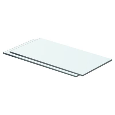 vidaXL 2 db átlátszó üveg paneles polc 40 x 15 cm