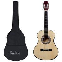 """vidaXL 4/4-es klasszikus gitár kezdőknek tokkal 39"""""""