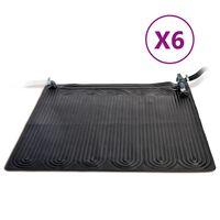 Intex 6 db fekete napelemmel fűtött PVC szőnyeg 1,2 x 1,2 m