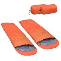 vidaXL 2 db narancssárga könnyű hálózsák 15℃ 850 g