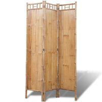vidaXL 5 paneles szobaelválasztó fal bambusz 200x160 cm