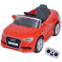 vidaXL elektromos Audi A3 Red játékautó távirányítóval