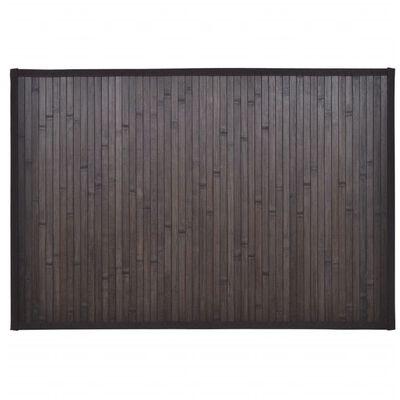 vidaXL 4 db sötétbarna bambusz fürdőszobaszőnyeg 60 x 90 cm, sötétbarna