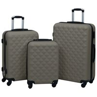 vidaXL 3 db antracitszürke ABS keményfalú gurulós bőrönd