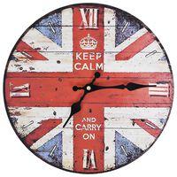 vidaXL vintage stílusú brit zászlós falióra 30 cm