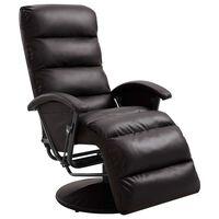 vidaXL barna dönthető műbőr TV-fotel