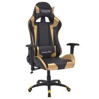 vidaXL aranyszínű dönthető versenyautó ülés alakú műbőr irodai szék
