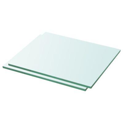 vidaXL 2 db átlátszó üveg paneles polc 30 x 20 cm