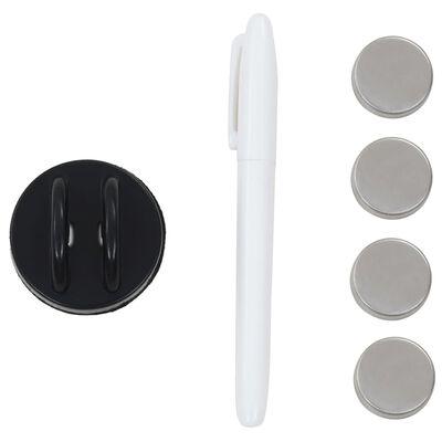 vidaXL fekete, falra szerelhető mágneses üvegtábla 60 x 20 cm