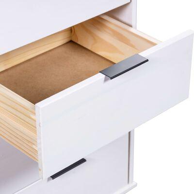 vidaXL fehér tömör fenyő fiókos szekrény 45 x 39,5 x 90,3 cm