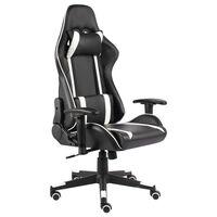 vidaXL fehér PVC forgó gamer szék