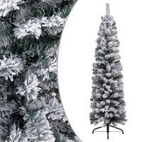 vidaXL vékony PVC műkarácsonyfa pelyhes hóval 150 cm