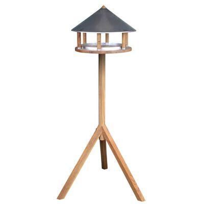 Esschert Design háromszög alakú madáretető cink tetővel
