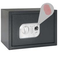 vidaXL sötétszürke digitális széf ujjlenyomat-olvasóval 35x25x25 cm