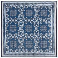 Esschert Design kék és fehér kültéri szőnyeg 151,5 cm OC23