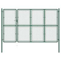vidaXL zöld acél kertkapu 175 x 350 cm