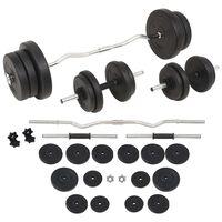 vidaXL egykezes és kétkezes súlyzókészlet 60 kg
