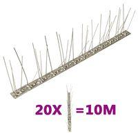 vidaXL 20 db 10 m-es ötsoros rozsdamentes acél madár- és galambtüske