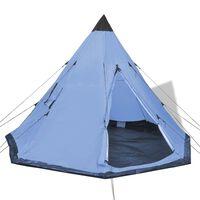 vidaXL 4 személyes kék sátor