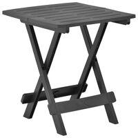 vidaXL antracitszürke műanyag összecsukható kerti asztal 45x43x50 cm