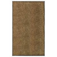 vidaXL barna kimosható lábtörlő 90 x 150 cm
