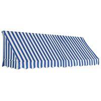 vidaXL kék és fehér bisztró napellenző 300 x 120 cm