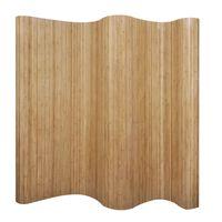 vidaXL természetes bambusz paraván 250 x 165 cm
