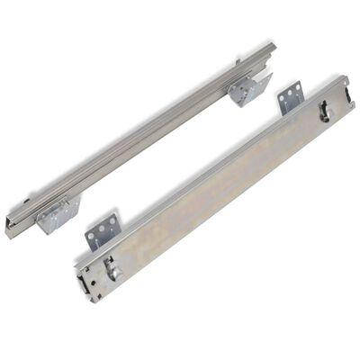 vidaXL 2 db ezüstszínű kihúzható drótkosár 500 mm