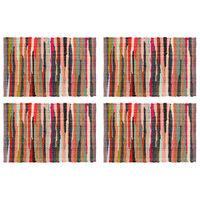 vidaXL 4 db színes pamut chindi tányéralátét 30 x 45 cm