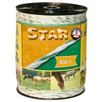 Kerbl fehér-zöld Star elektromos kerítés kötél 400 m 44528