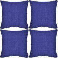 4 db pamut párnahuzat 40 x 40 cm kék