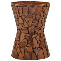vidaXL barna tömör tíkfa mozaik ülőke