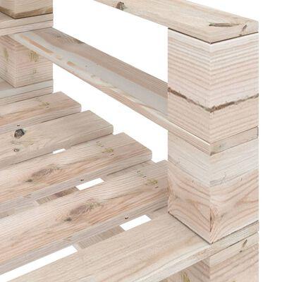 vidaXL 6 részes fenyőfa kerti raklap-bútorgarnitúra